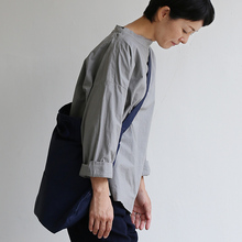 Stand collar box shirt~clove gray