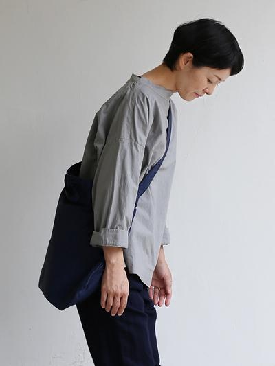 Stand collar box shirt~clove gray 1