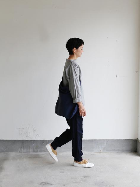 Stand collar box shirt~clove gray 3