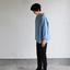 Stand collar box shirt~gardenia blue 3