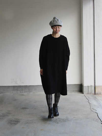 New balloon dress long sleeve~wool / Lace up boots Ⅱ 2