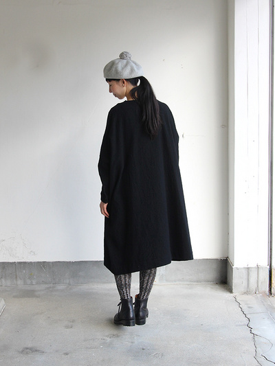 New balloon dress long sleeve~wool / Lace up boots Ⅱ 5