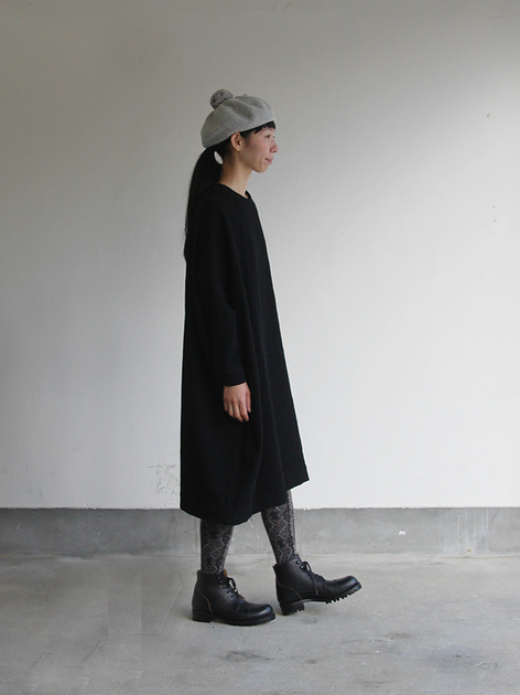 New balloon dress long sleeve~wool / Lace up boots Ⅱ 3