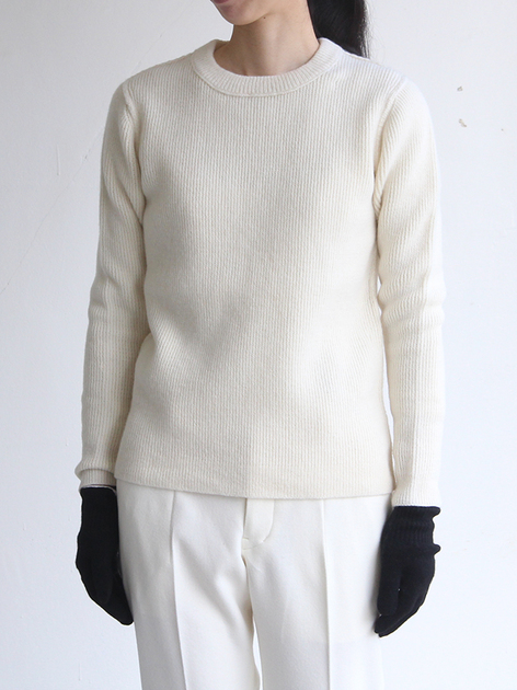 Crew neck rib sweater / New tapered pants 2