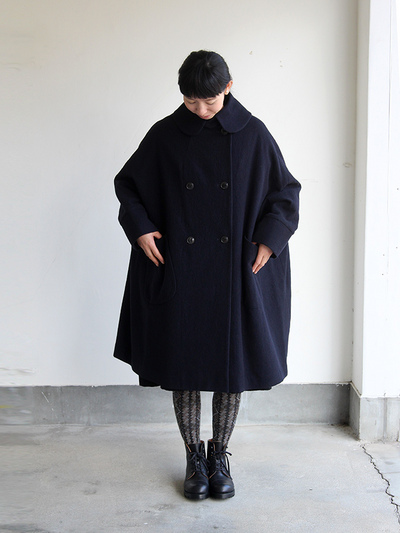 Small collar balloon coat 3