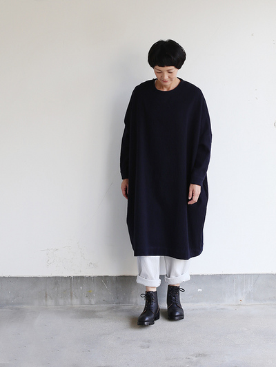 New balloon dress long sleeve~wool / Easy pants~wool 2