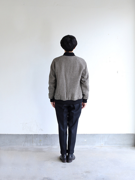 Fly front blouson~hound's tooth check rever 5