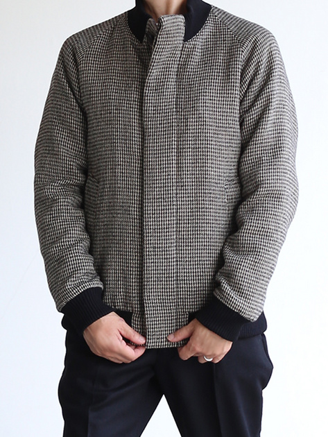 Fly front blouson~hound's tooth check rever 4