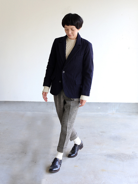 Draw string easy tapered pants / 1930's work jacket 2