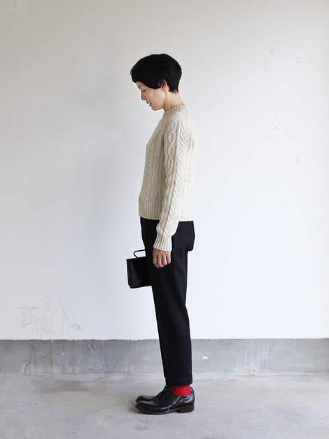 Aran sweater / New tapered pants~wool 3