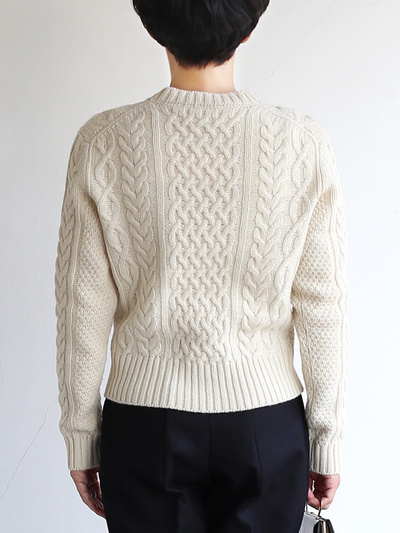 Aran sweater / New tapered pants~wool 4