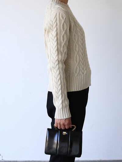 Aran sweater / New tapered pants~wool 1
