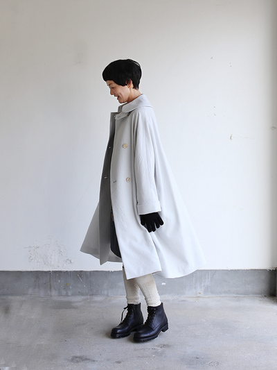 Small collar balloon coat~wool 1