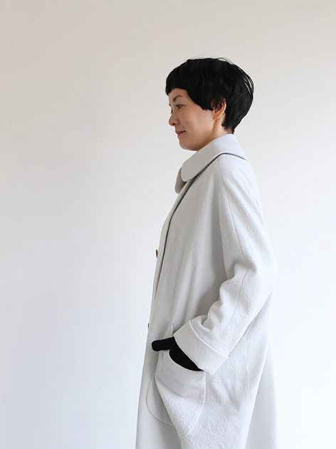 Small collar balloon coat~wool 4