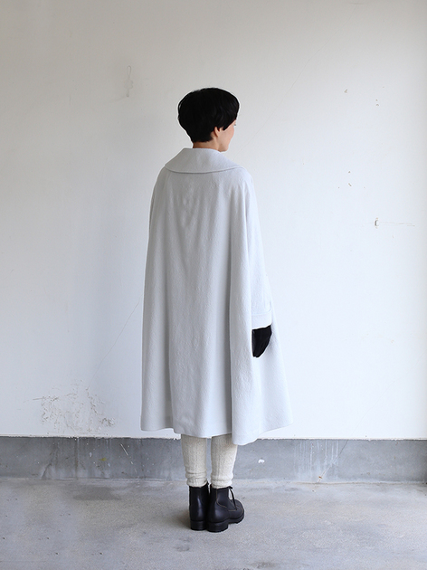 Small collar balloon coat~wool 5