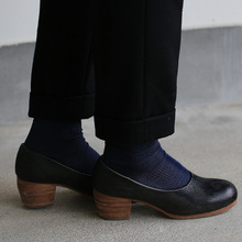 New tapared pants~wool (black)