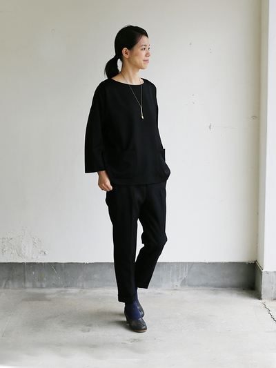 New tapared pants~wool (black) 2