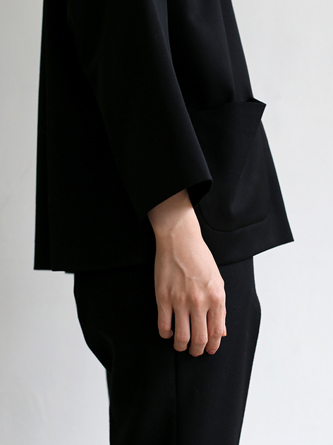New tapared pants~wool (black) 4