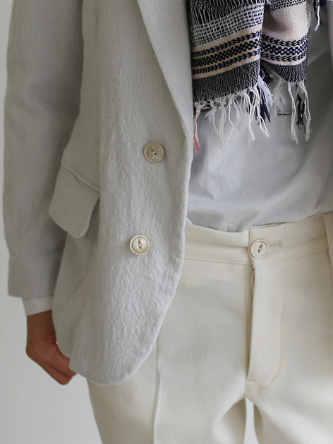 New tapared pants~wool (ivory) 4