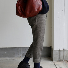 Draw string easy tapered pants