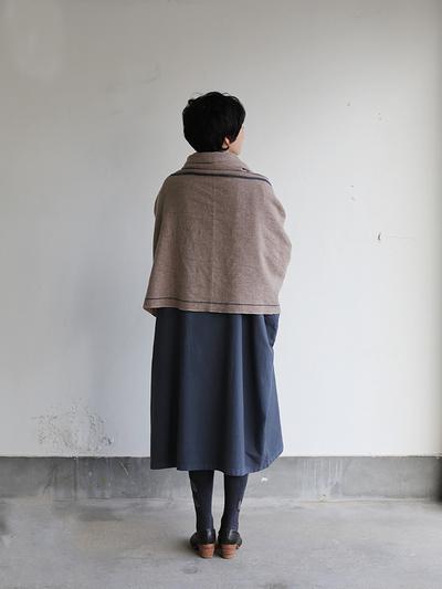 Boat neck long dress~cotton angora 5