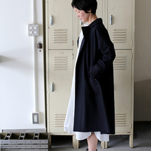 Button less coat~cotton wool