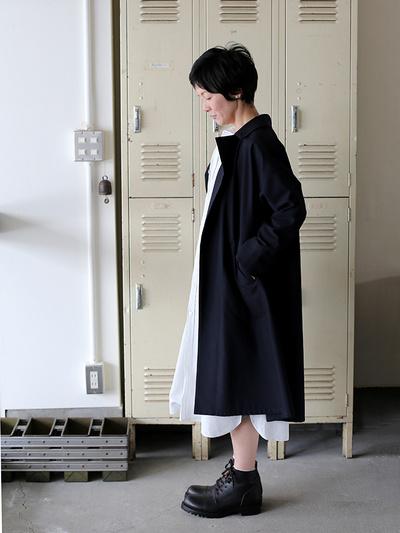 Button less coat~cotton wool 1