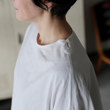 New balloon blouse~cotton linen