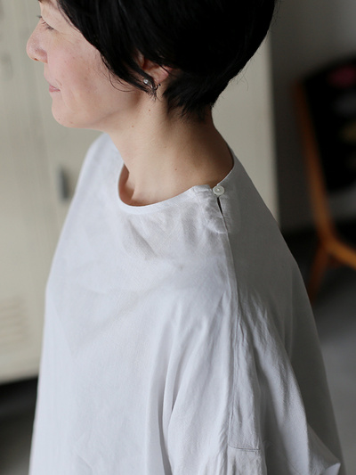 New balloon blouse~cotton linen 1