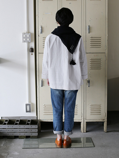Square scarf M~wool>2015SS 4