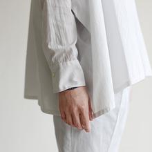 Boat neck big shirt~cotton