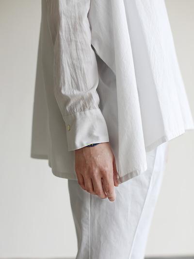 Boat neck big shirt~cotton 1