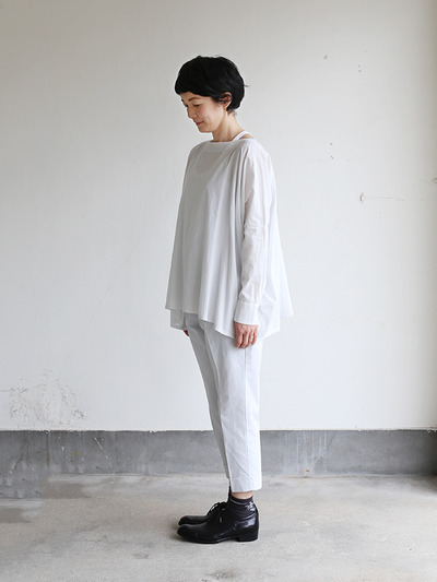 Boat neck big shirt~cotton 2