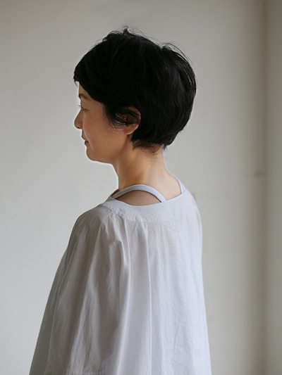 Boat neck big shirt~cotton 4