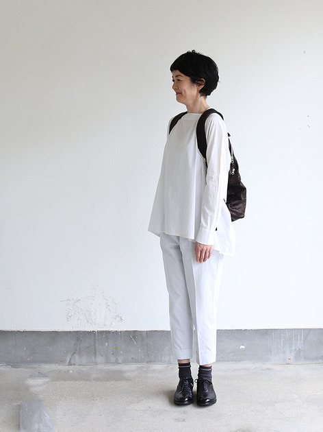 Boat neck big shirt~cotton 5