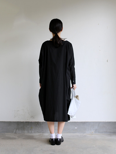 Boat neck long dress~cotton 4