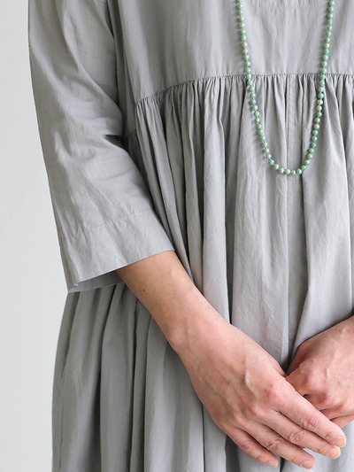 Gather bottom big dress~cotton 1