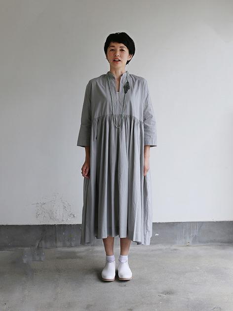 Gather bottom big dress~cotton 2