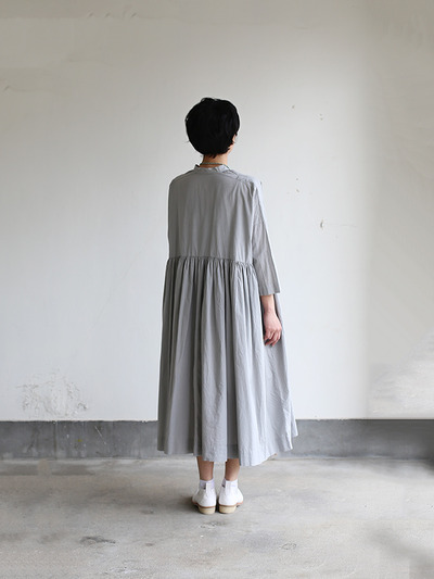 Gather bottom big dress~cotton 4