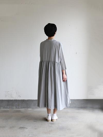 Gather bottom big dress~cotton 4