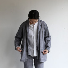Loose fit jacket~linen silk