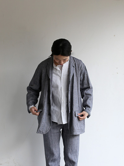 Loose fit jacket~linen silk 1
