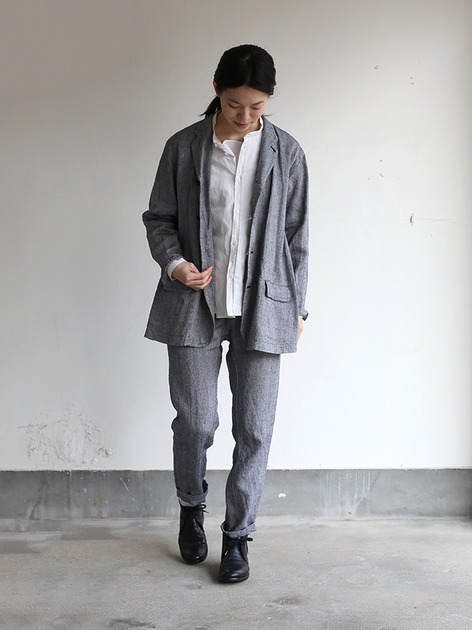 Loose fit jacket~linen silk 2