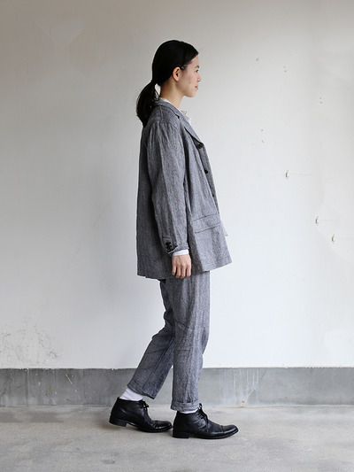 Loose fit jacket~linen silk 3