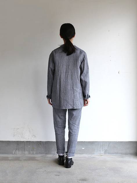 Loose fit jacket~linen silk 4
