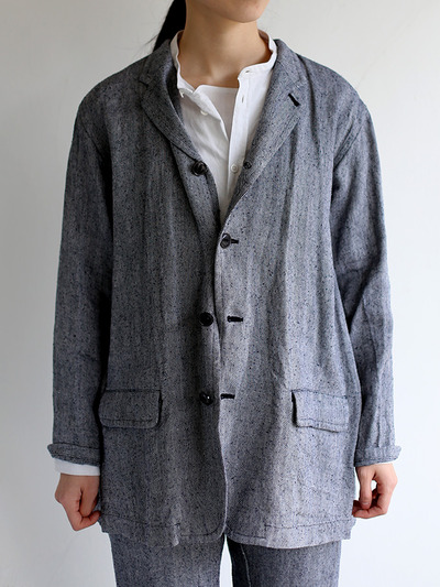 Loose fit jacket~linen silk 5