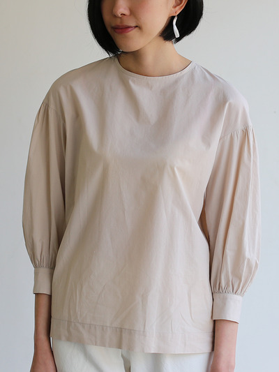 Round cuff blouse~cotton 1