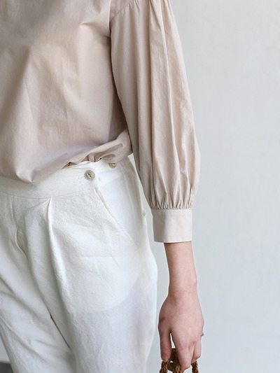 Round cuff blouse~cotton 4