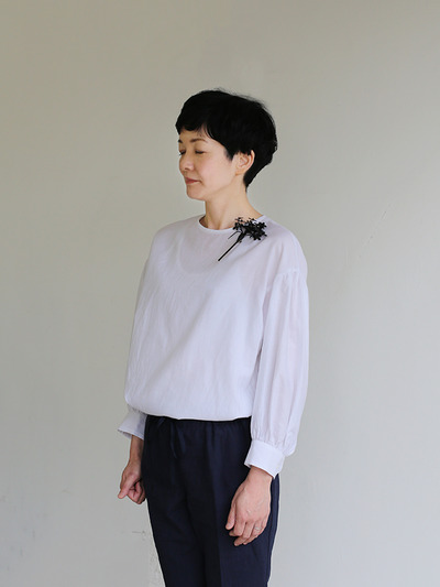 Round cuff blouse~silk cotton 2