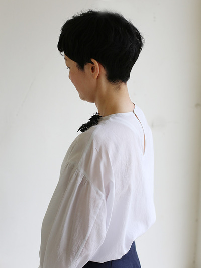 Round cuff blouse~silk cotton 1